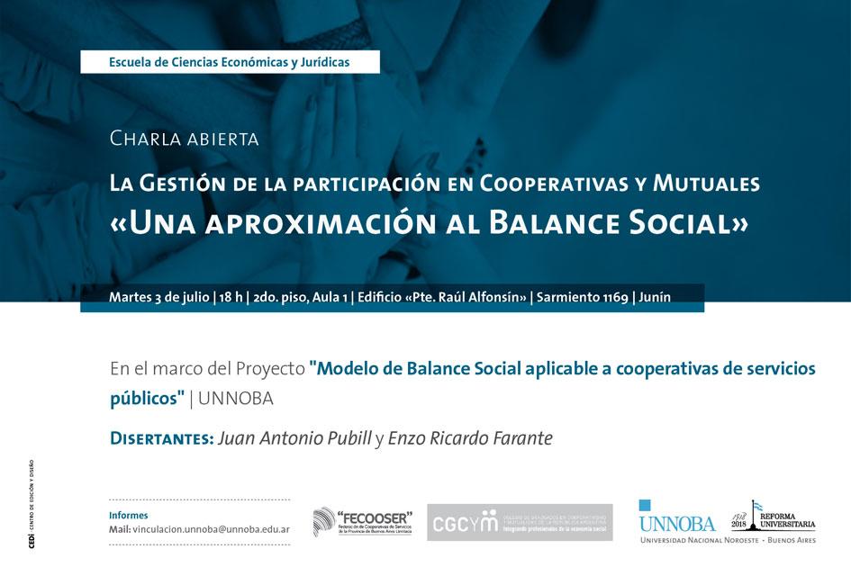 «La gestión de la participación en cooperativas y mutuales». Jornada de actualización profesional en Junín (Buenos Aires)