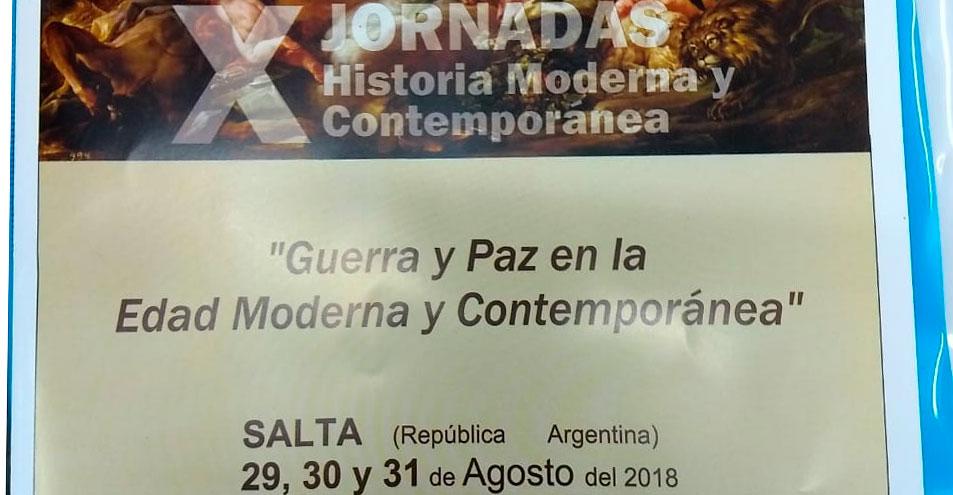 Informe sobre la participación del IEPAS-CEHIR-CGCYM en las X Jornadas de Historia Moderna y Contemporánea