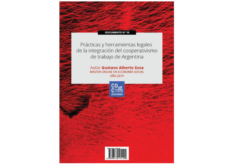 """Nuevo libro de acceso libre: """"Prácticas y herramientas legales de la integración del cooperativismo de trabajo de Argentina"""""""