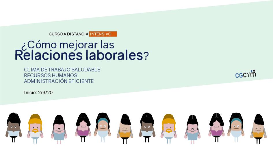Curso a distancia sobre relaciones laborales para mejorar el clima de trabajo en las organizaciones