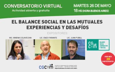 Conversatorio Virtual: El Balance Social en las Mutuales, experiencias y desafíos
