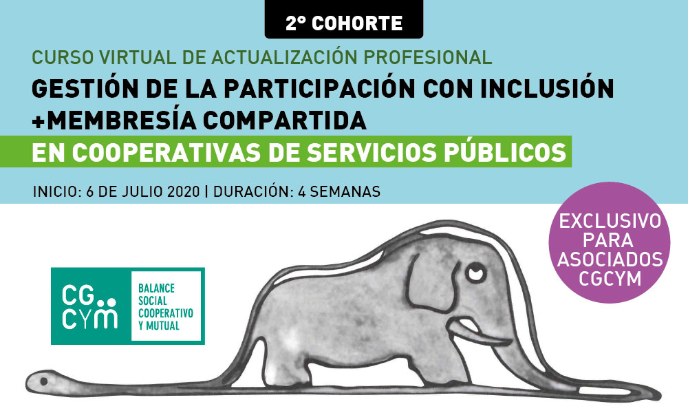 2° COHORTE: «Gestión de la Participación con Inclusión en Cooperativas de Servicios Públicos. Membresía compartida»