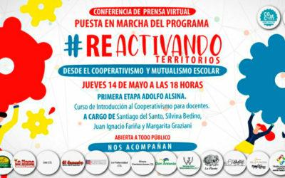 """Conferencia de Prensa Virtual: Presentación del Programa """"Re-Activando Territorios desde el Cooperativismo y Mutualismo Escolar"""""""