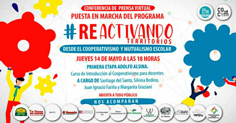 Conferencia de Prensa Virtual: Presentación del Programa «Re-Activando Territorios desde el Cooperativismo y Mutualismo Escolar»