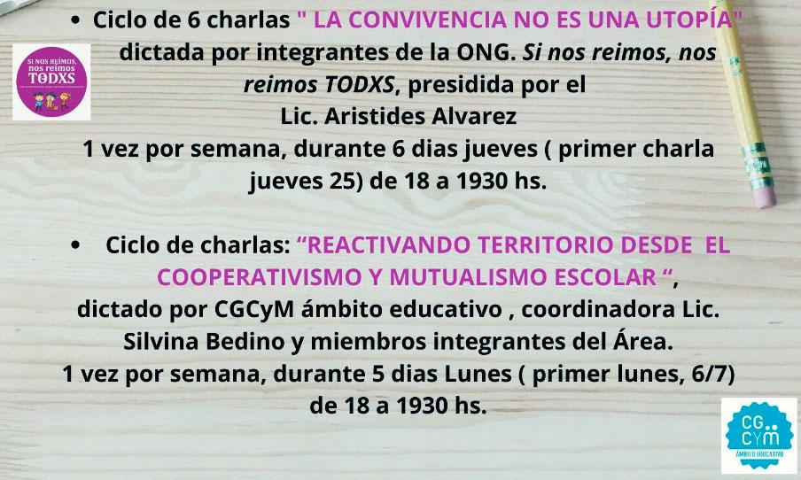 CGCyM Ámbito Educativo participará de un ciclo de charlas sobre educación y neurociencias