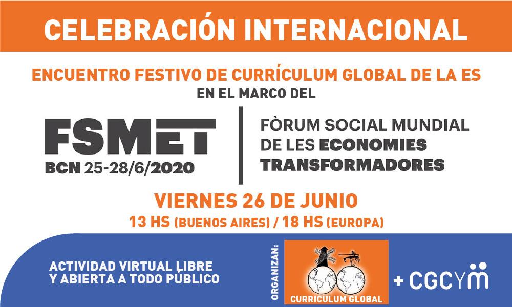 Currículum Global y CGCyM organizan una celebración en el marco del Foro Social Mundial de las Economías Transformadoras
