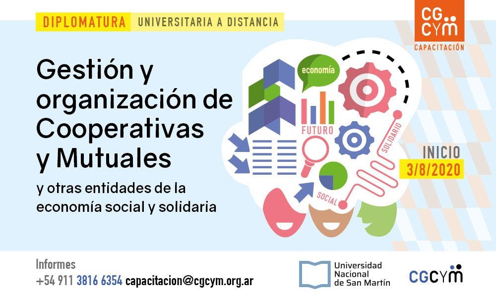 """Diplomatura """"Gestión y Organización de Cooperativas y Mutuales"""" A DISTANCIA. Inicio: 3/8"""