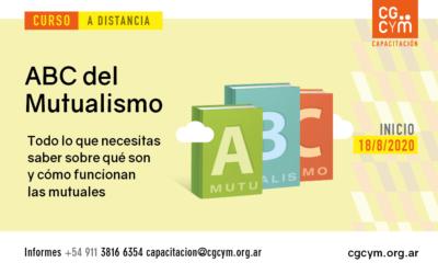 """Curso a distancia """"ABC del Mutualismo"""". Inicio: 18/8"""