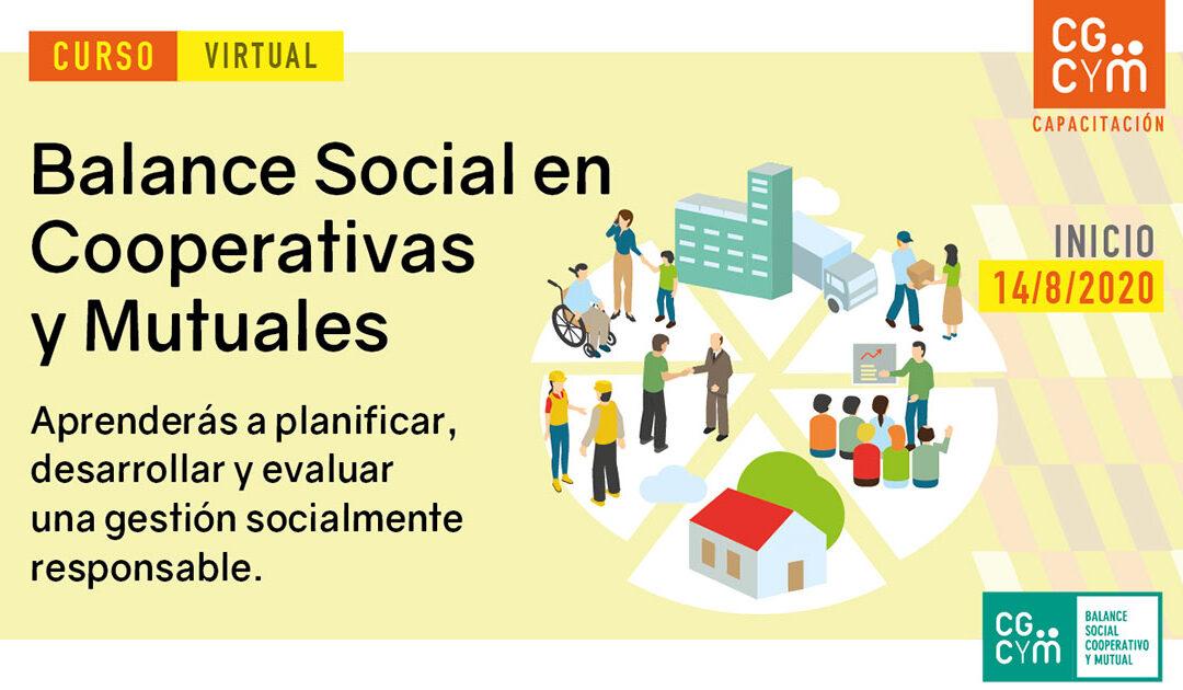 Curso virtual sobre Balance Social en Cooperativas y Mutuales – Agosto 2020
