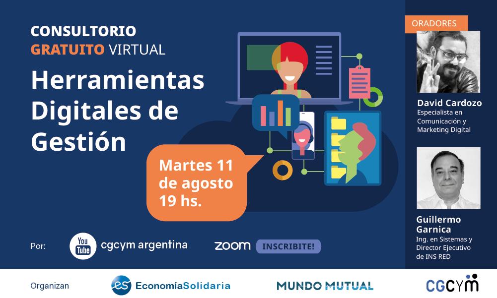 """Consultorio Gratuito """"Herramientas digitales de Gestión para cooperativas y mutuales»"""