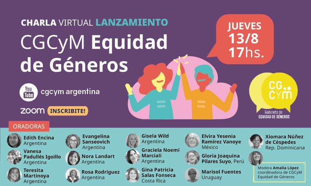 Charla Internacional de Lanzamiento del Gabinete de Equidad de Géneros del CGCyM
