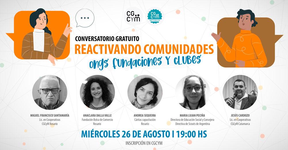 Conversatorio: Reactivando Comunidades para ONGs, Clubes y Fundaciones
