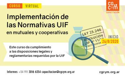 Curso Normativas UIF para Cooperativas y Mutuales