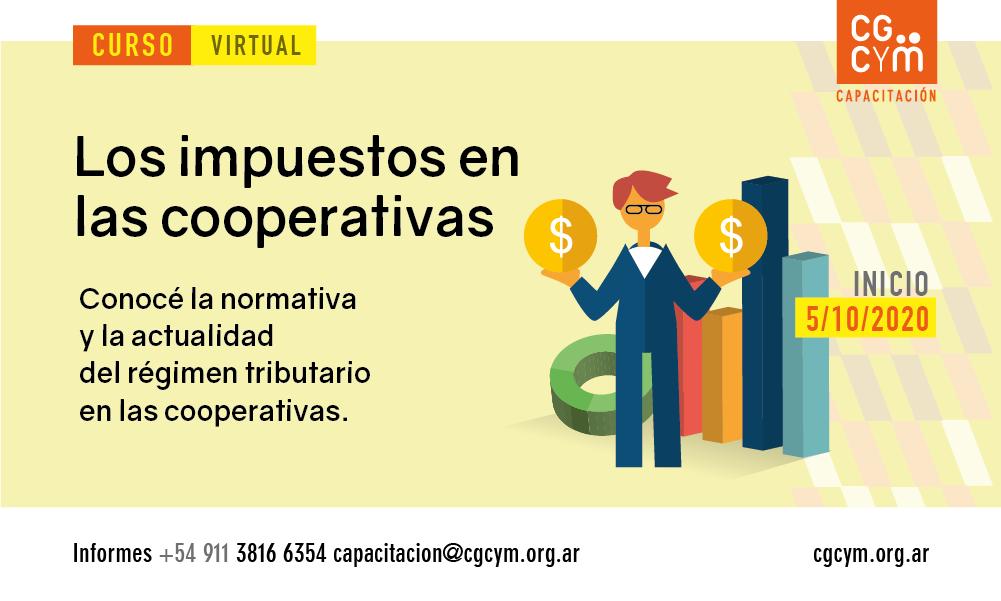 Los Impuestos en las Cooperativas. Curso virtual, inicio: 5 de octubre