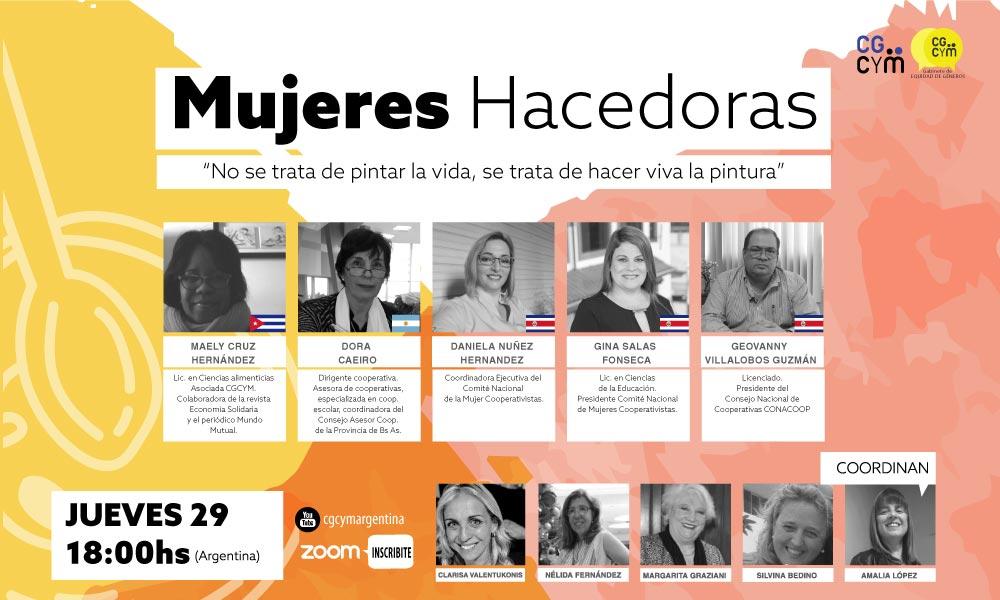 2° Charla Internacional: Mujeres que hacen. Jueves 29/10 18 hs.