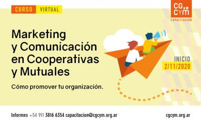 Curso Virtual: Marketing y Comunicación en Cooperativas y Mutuales