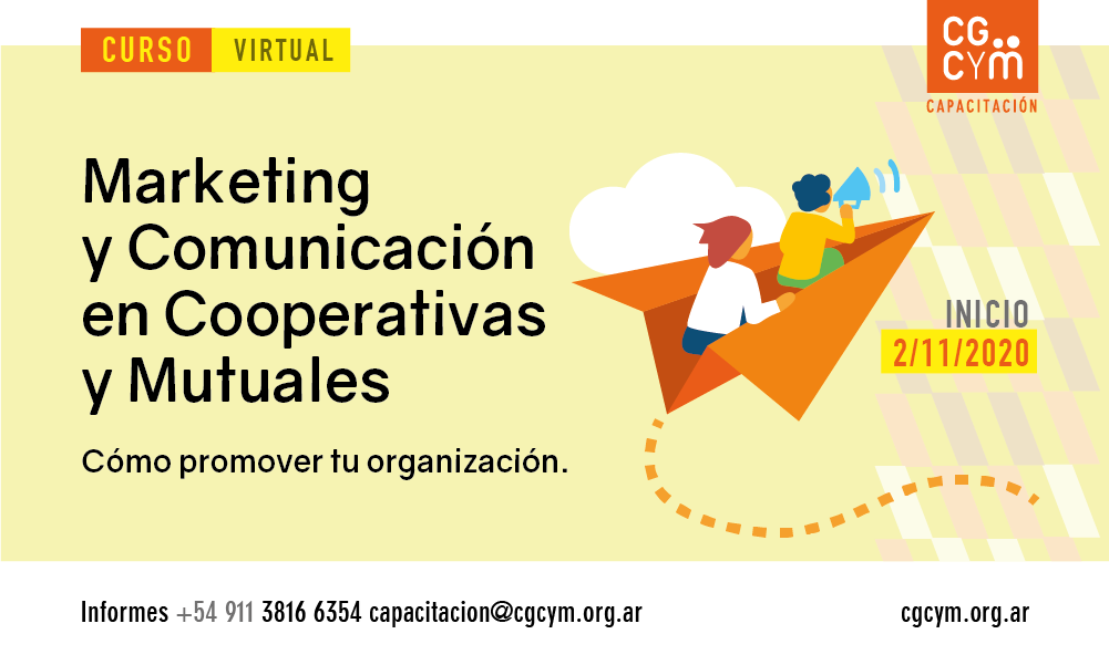 Curso Virtual: Marketing y Comunicación en Cooperativas y Mutuales