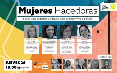 "3° Charla Internacional: ""Mujeres hacedoras"", Jueves 26/11 18 hs."