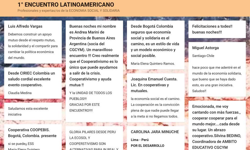 Se realizó el 1º Encuentro Latinoamericano de Profesionales y Expertas/os de la Economía Social y Solidaria