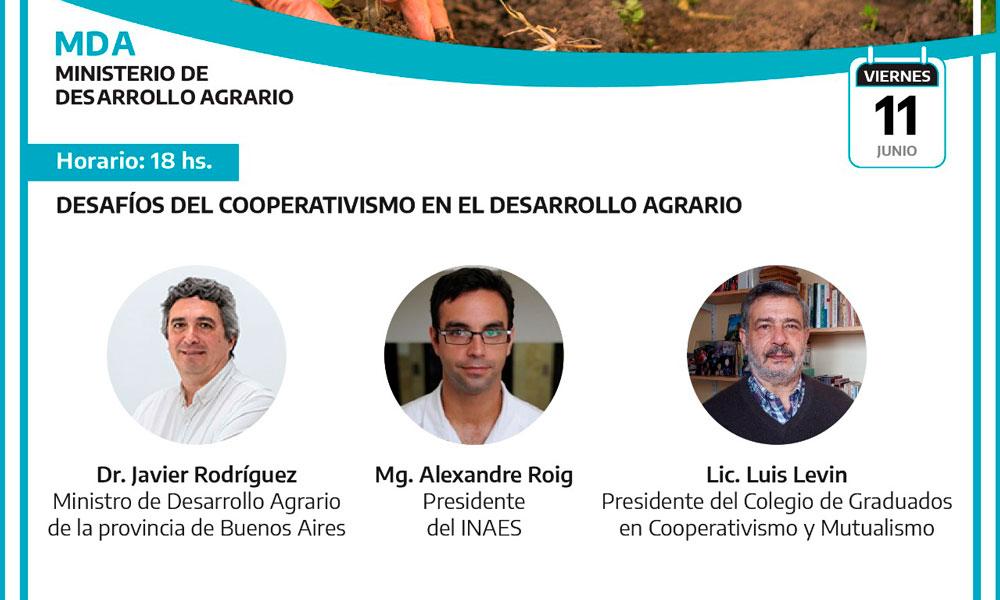 El CGCyM participará del panel de cierre del 1º Congreso de Cooperativas Agropecuarias y Agroalimentarias de la provincia de Buenos Aires