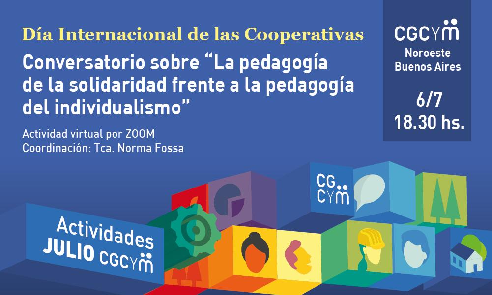 """CGCyM Noroeste Buenos Aires organiza un conversatorio sobre """"La pedagogía de la solidaridad frente a la pedagogía del individualismo"""""""