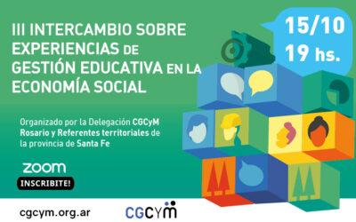"""Se viene un espacio de """"Intercambios sobre Experiencias de Gestión Educativa en la Economía Social y Solidaria"""""""